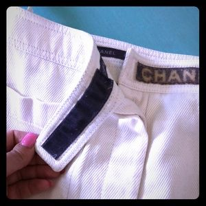 White Chanel Sailor Pants